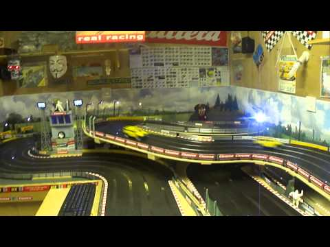Scalextric Ninco Hummers Slot Car Racing, kids session.