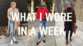 vlog 18   what i wore in a week how i tuck in my sweaters