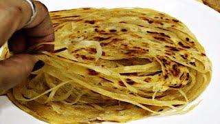आटे का ढेर सारे लच्छे वाला पराठा । flaky paratha । layered paratha । whole wheat lachha paratha
