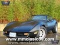 MM CLASICOS CHEVROLET CORVETTE C3 1981 NEGRO MATE