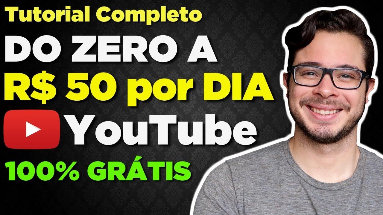 Como Ganhar Dinheiro no YouTube SEM APARECER (Do ZERO a R$ 50 POR DIA na Internet) - PASSO A PASSO