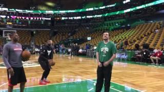 Jimmy Butler, Dwyane Wade work perimeter game before Game 5 vs. Celtics