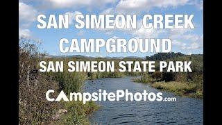 San Simeon State Park, CA  San Simeon Creek Campsite Photos