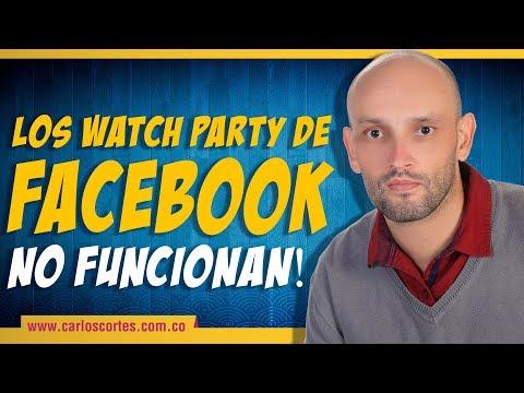¿Conocen los videos en grupo de #Facebook? (watch party), pues no funcionan!!!