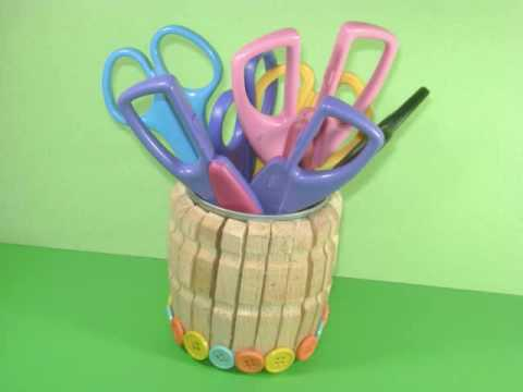 How To Make A Scissors Holder Ep Simplekidscrafts