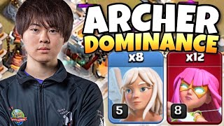 GAKU SHOWS THAT SUPER ARCHERS ARE THE BEST TROOP IN THE TH11 QUESO CUP! | Clash of Clans eSports