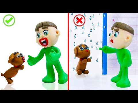 SUPERHERO BABY PUPPY TRAINING BEHAVIOR 馃挅 Stop Motion Cartoons Animation