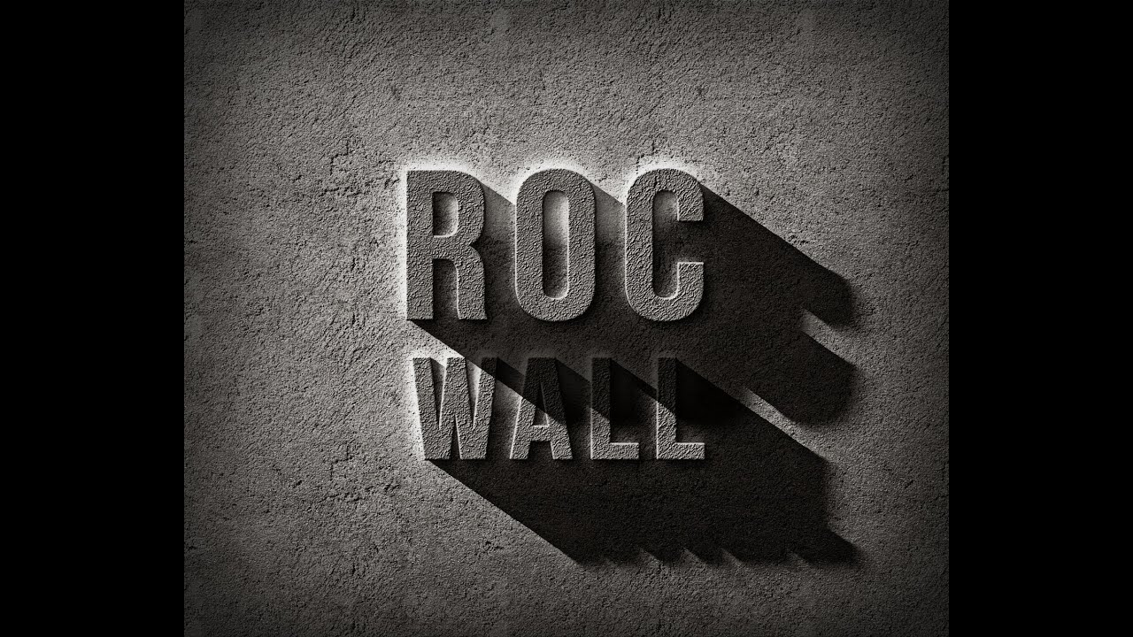 Rock wall text effect photoshop tutorial youtube rock wall text effect photoshop tutorial baditri Images
