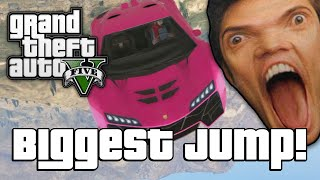 GTA V: BIGGEST JUMP EVER!? (GTA 5 Online Funny Moments)