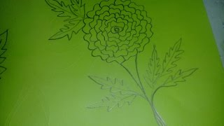 গাঁদাফুল আঁকা/Marigold Flower Drawing For Kids.
