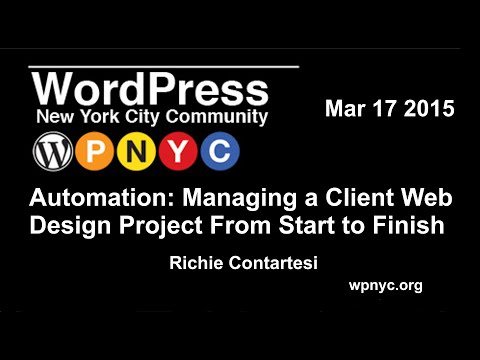 Automation: Managing a Client Web Design Project From Start to Finish