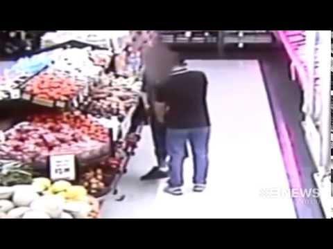 Supermarket Brawl   9 News Perth
