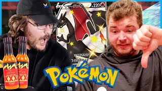 Pokémon pack battle but the loser has to eat the HOTTEST WINGS known to man...