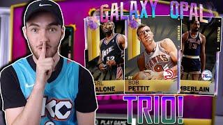TRIPLE THREAT GALAXY OPAL TRIO GAMEPLAY! MOST UNSTOPPABLE TTO TRIO? (NBA 2K19 MYTEAM)