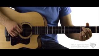Burnin' It Down - Guitar Lesson and Tutorial - Jason Aldean