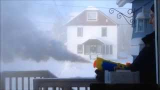 Boiling water & water gun in extreme cold (Northern Ontario)
