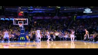 Trevor Booker over the head shot: Utah Jazz at Oklahoma City Thunder