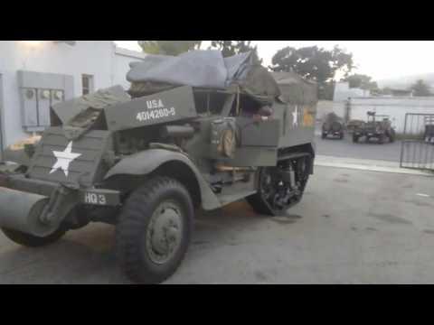Driving WW2 halftrack 805 santa barbara