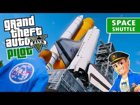 Grand Theft Space - NASA Space Shuttle Endeavour | GTA 5 Space Mod Shuttle Launch | GTA 5 Spaceship