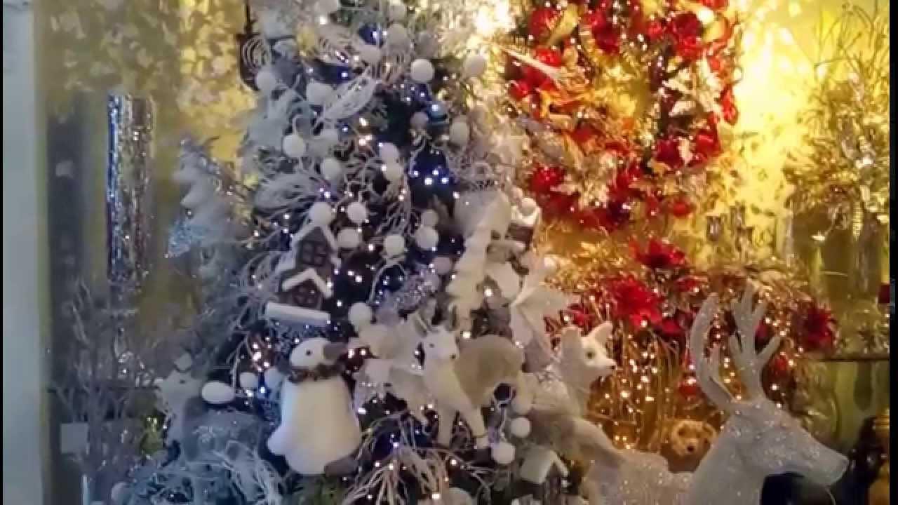 Arbol de navidad blanco decorado decoracion navide a 2017 - Adornos para arbol navidad ...