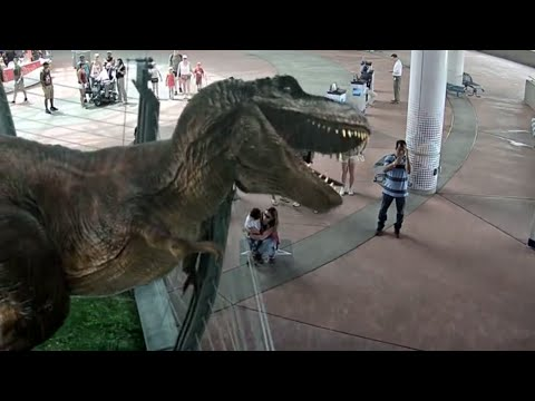 Jurassic Park Augmented Reality experience at Universal Studios, Orlando - by INDE