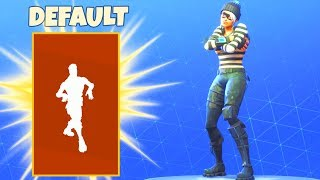 If DEFAULT DANCE was a LEGENDARY EMOTE! Fortnite Battle Royale
