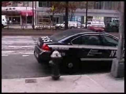 Traffic Enforcement Agent Blocks Fire Hydrant During A Fire