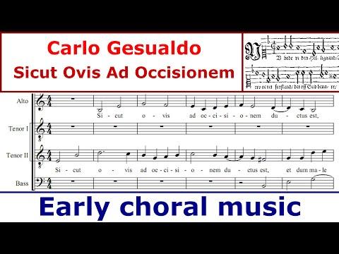 Carlo Gesualdo - Sicut Ovis Ad Occisionem