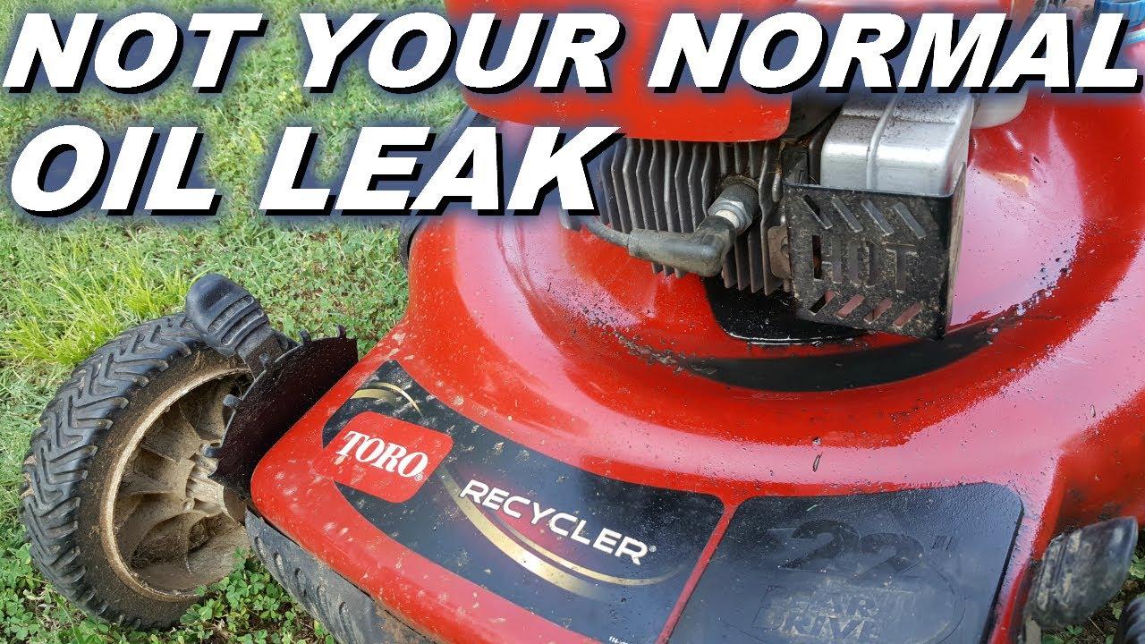 Toro lawnmower with Tecumseh has oil leak