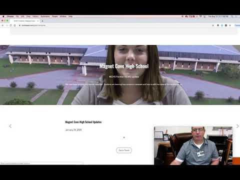 Navigating the Magnet Cove High School EAST Website