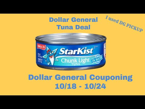 Dollar General Tuna Deal.  Using DG Pickup. NOT A GLITCH! Dollar General Couponing Haul.