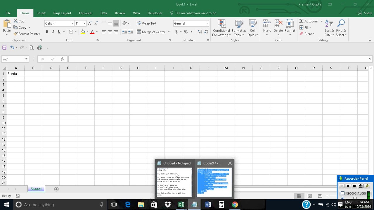 Coloring sheet tabs in excel - Change Sheet Tab Color Based On Cell Value In Excel Using Vba