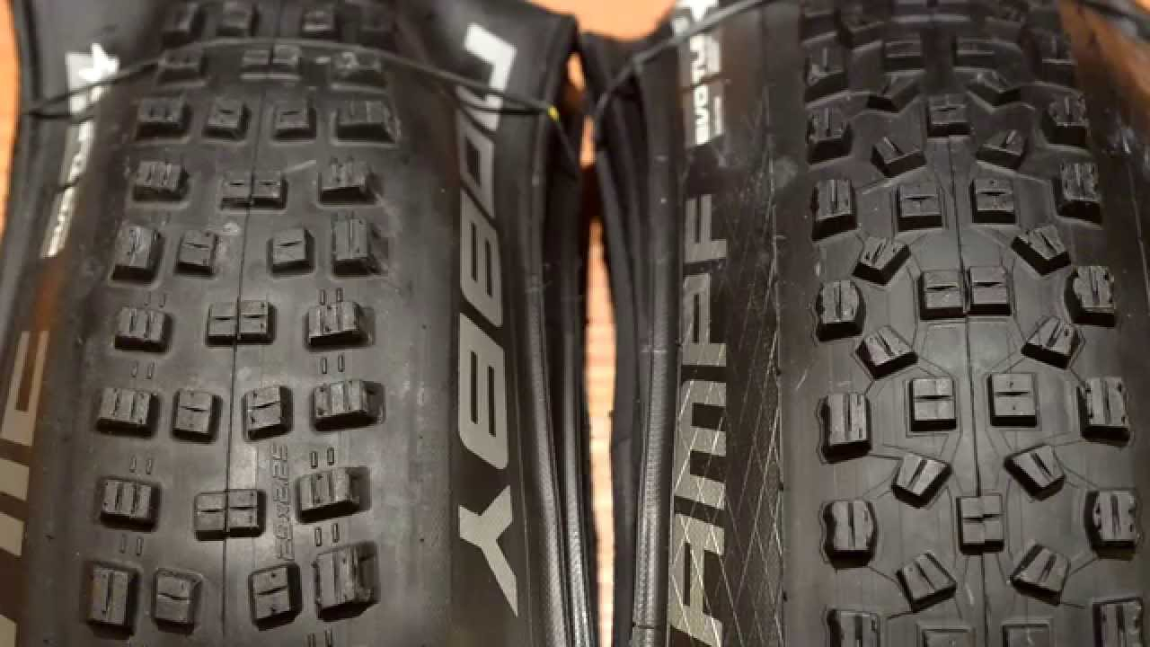 """2015 Schwalbe Nobby Nic and Hans Dampf 29"""" Measured on WTB i23 Rims ..."""
