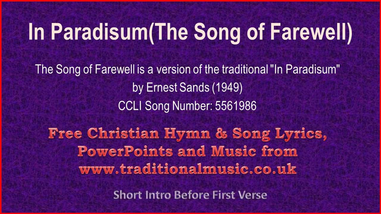 The song of farewellin paradisum hymn lyrics music youtube the song of farewellin paradisum hymn lyrics music m4hsunfo