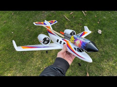 Rocket powered RC Jet Airplane !! Super Acceleration