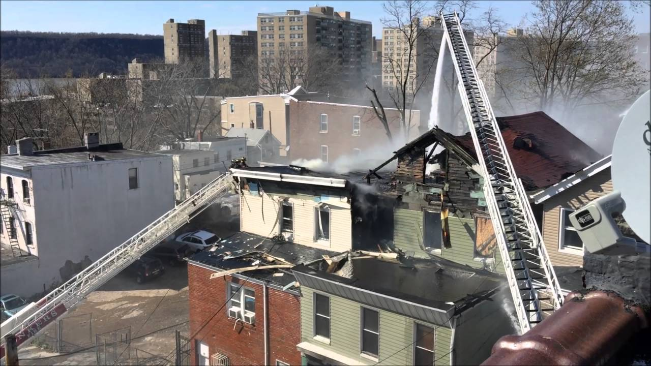 YONKERS FIRE DEPARTMENT BATTLING A 4TH ALARM FIRE ON