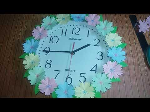 #SNDIY #SNPAPERCUT   kirigami bunga untuk hiasan jam dinding   DIY O'clock paper flower
