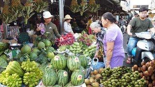 SÀI GÒN #143: Chợ Võ Thành Trang (Quận Tân Bình) tấp nập hoa quả chưng ngày tết 2020 (28AL)