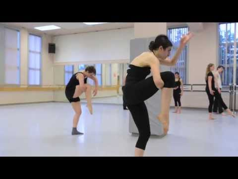 Limón choreography rehearsal, Conservatory for Contemporary Dance Arts