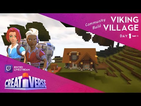 Creativerse: Building A Viking Village . . . of Holes?! - Day 1 (Part 1)