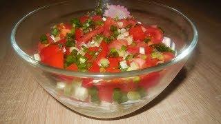 ✅Простой, летний, слоеный, быстрый и очень вкусный салат.