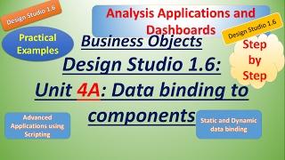 BusinessObject DesignStudio 1.6: Unit 4A:العملية:إنشاء تطبيقات متقدمة باستخدام البرمجة