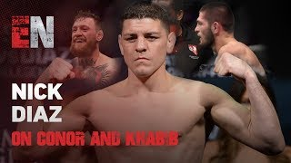 What Does Nick Diaz Think Of Conor & Khabib  EsNews Boxing