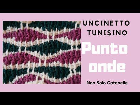 Non Solo Catenelle Punto Onde Realizzato Con Luncinetto Tunisino