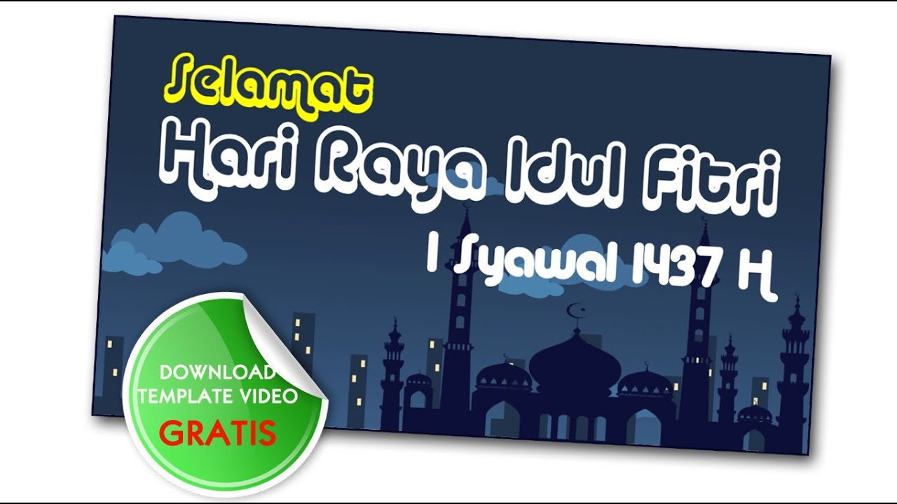 Ucapan Idul Fitri Template Ppt Free Download YouTube