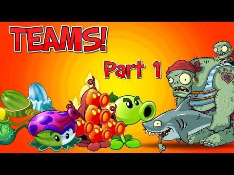 Plants vs. Zombies 2 Teams vs Pirate Gargantuar Zombie Part 1