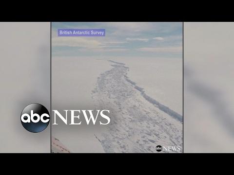 Massive iceberg poised to break off of Antarctica