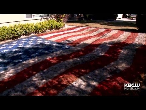 San Jose Couple Paints American Flag On Lawn To Deal With Drought