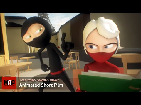 "CGI 3D Animated Short Film ""A NINJA LOVE STORY"" Funny Animation by Daniel Klug"