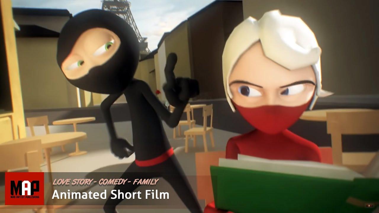 Cute CGI 3d Animated Short Film ** A NINJA LOVE STORY ** Funny Animation Kids Cartoon by Daniel Klug #1